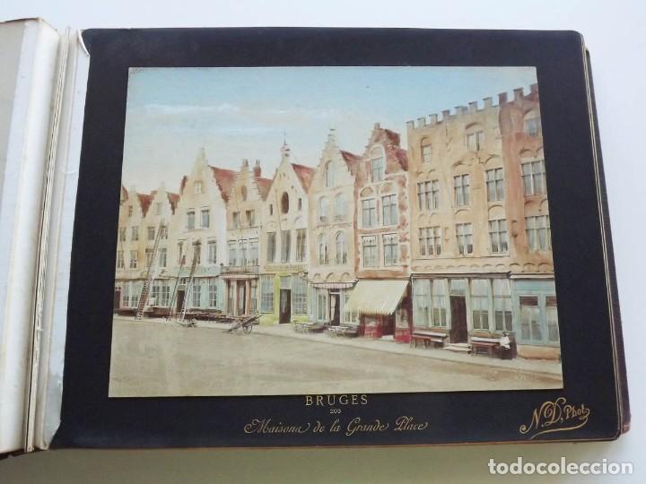 Fotografía antigua: Bruges, espectacular Album de grandes dimensiones con 19 fotografías pintadas, datado hacia 1880 - Foto 7 - 146436826