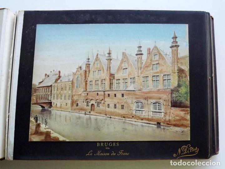 Fotografía antigua: Bruges, espectacular Album de grandes dimensiones con 19 fotografías pintadas, datado hacia 1880 - Foto 9 - 146436826