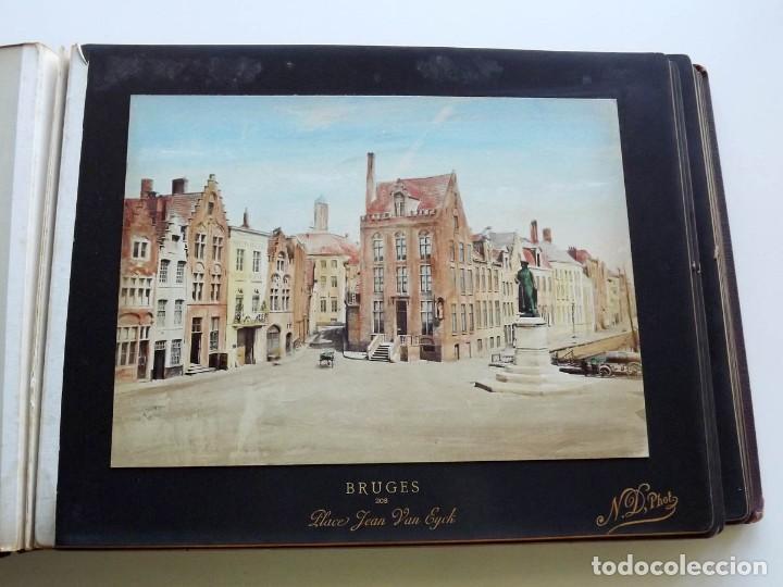 Fotografía antigua: Bruges, espectacular Album de grandes dimensiones con 19 fotografías pintadas, datado hacia 1880 - Foto 10 - 146436826