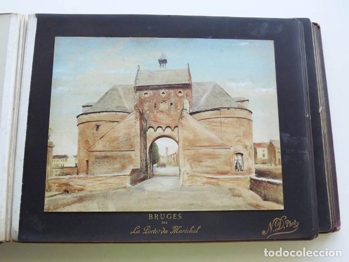 Fotografía antigua: Bruges, espectacular Album de grandes dimensiones con 19 fotografías pintadas, datado hacia 1880 - Foto 11 - 146436826