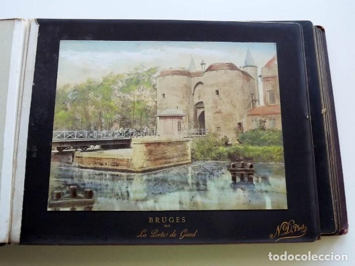 Fotografía antigua: Bruges, espectacular Album de grandes dimensiones con 19 fotografías pintadas, datado hacia 1880 - Foto 12 - 146436826