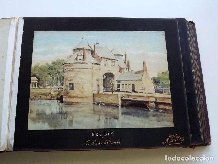 Fotografía antigua: Bruges, espectacular Album de grandes dimensiones con 19 fotografías pintadas, datado hacia 1880 - Foto 13 - 146436826