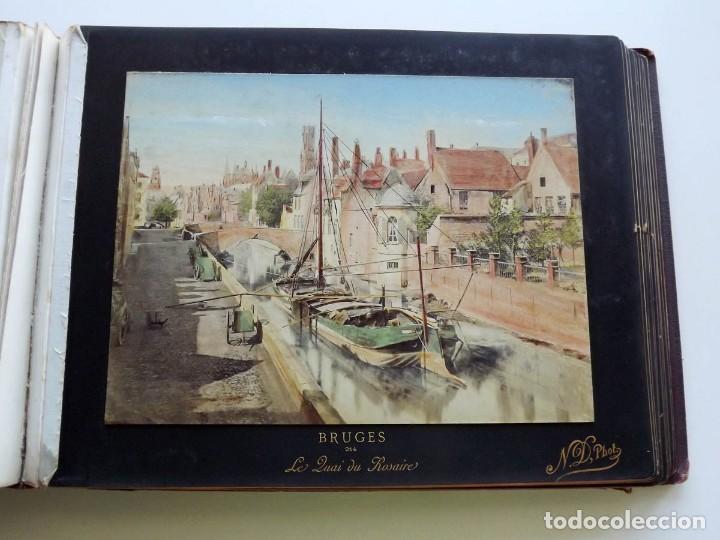 Fotografía antigua: Bruges, espectacular Album de grandes dimensiones con 19 fotografías pintadas, datado hacia 1880 - Foto 14 - 146436826