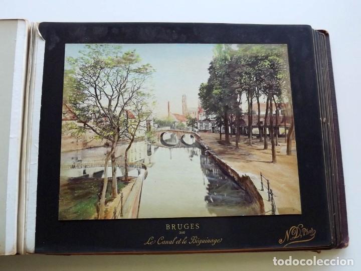 Fotografía antigua: Bruges, espectacular Album de grandes dimensiones con 19 fotografías pintadas, datado hacia 1880 - Foto 15 - 146436826