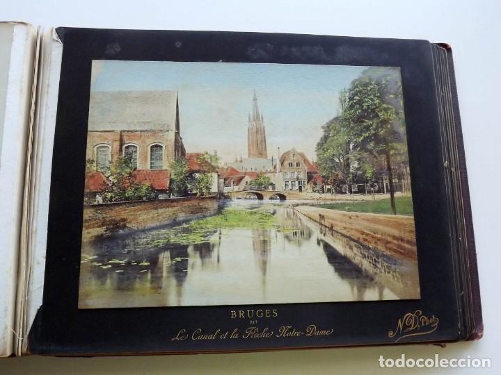 Fotografía antigua: Bruges, espectacular Album de grandes dimensiones con 19 fotografías pintadas, datado hacia 1880 - Foto 16 - 146436826