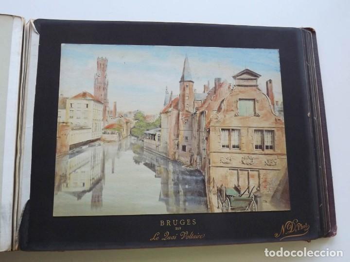 Fotografía antigua: Bruges, espectacular Album de grandes dimensiones con 19 fotografías pintadas, datado hacia 1880 - Foto 17 - 146436826