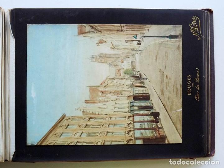 Fotografía antigua: Bruges, espectacular Album de grandes dimensiones con 19 fotografías pintadas, datado hacia 1880 - Foto 19 - 146436826