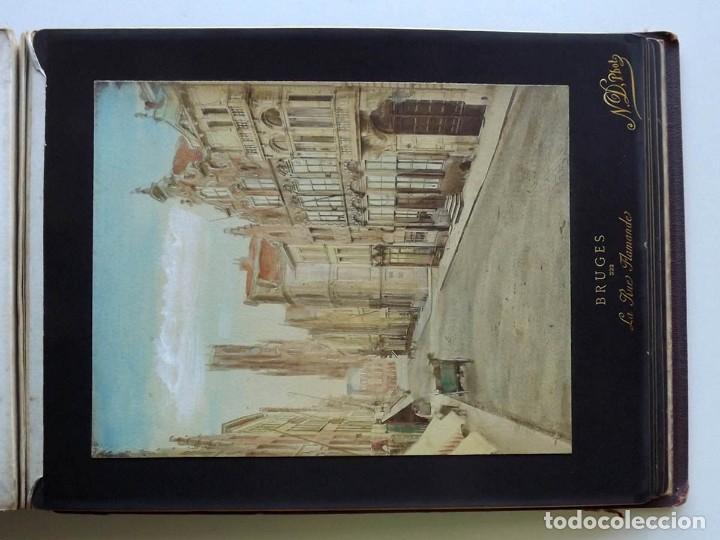Fotografía antigua: Bruges, espectacular Album de grandes dimensiones con 19 fotografías pintadas, datado hacia 1880 - Foto 22 - 146436826