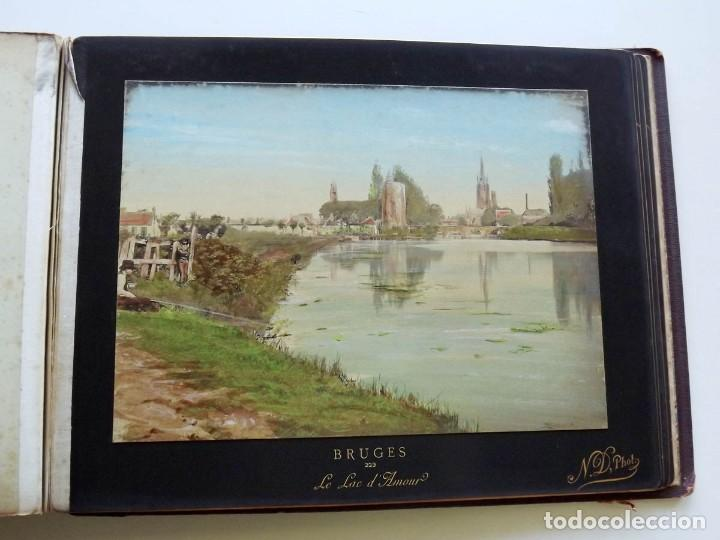Fotografía antigua: Bruges, espectacular Album de grandes dimensiones con 19 fotografías pintadas, datado hacia 1880 - Foto 23 - 146436826