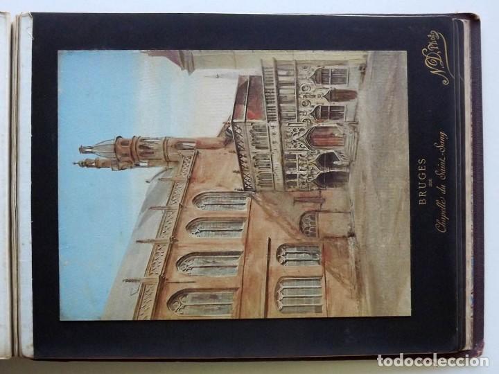 Fotografía antigua: Bruges, espectacular Album de grandes dimensiones con 19 fotografías pintadas, datado hacia 1880 - Foto 24 - 146436826