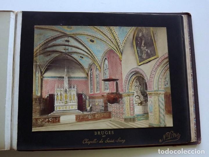Fotografía antigua: Bruges, espectacular Album de grandes dimensiones con 19 fotografías pintadas, datado hacia 1880 - Foto 25 - 146436826