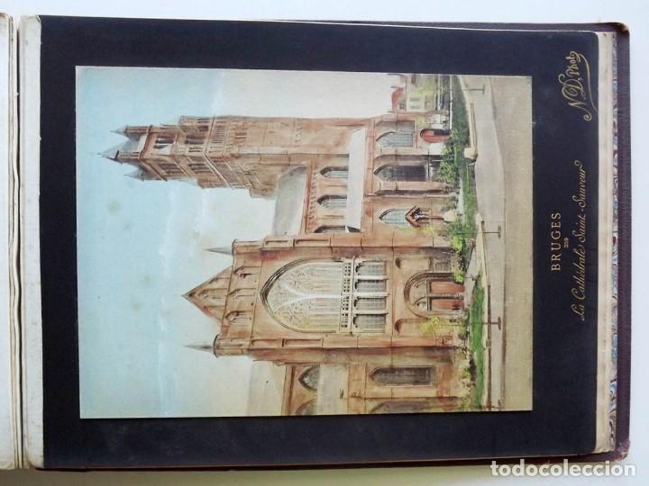 Fotografía antigua: Bruges, espectacular Album de grandes dimensiones con 19 fotografías pintadas, datado hacia 1880 - Foto 26 - 146436826