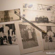 Fotografía antigua: LOTE 5 FOTOS ANTIGUAS. DIÁSPORA VASCA. INDIANOS. REGRESANDO A ESPAÑA EN BARCO DESDE MÉXICO. 1920. Lote 146531650