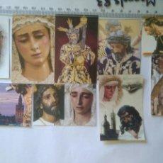 Fotografía antigua: 9 RECORDATORIO RELIGIOSO VIRGENES Y CRISTO SEMANA SANTA SEVILLA.HERMANDADES.A2.11.1. Lote 146628632