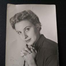 Fotografía antigua: ANTIGUA FOTOGRAFÍA CON DEDICATORIA 1954.. Lote 146745761