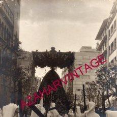 Fotografía antigua: SEMANA SANTA SEVILLA, ESPECTACULAR FOTOGRAFIA PALIO VIRGEN DEL SUBTERRANEO, 230X300MM. Lote 147208274