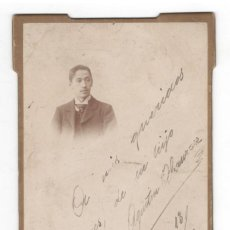 Fotografía antigua: RETRATO, CON DEDICATORIA, 13 MARZO 1898. COMPAÑY FOTÓGRAFO, MADRID. 17X11, ALGO SUCIA. Lote 147220318