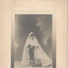 Fotografía antigua: NIÑA DE PRIMERA COMUNIÓN. M. COMPAÑY MADRID. 1904. Lote 147347354