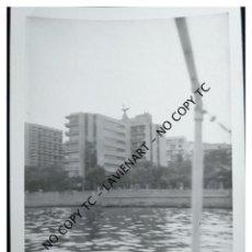 Fotografía antigua: MALLORCA - BAHÍA DE PALMA DE MALLORCA PUERTO 1966. Lote 147467922