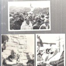 Fotografía antigua: FALANGE. ACTO FALANGISTA EN LA SIERRA DE ALCUBIERRE, EL 20 DE ABRIL DE 1980. 3 FOTOGRAFIAS. Lote 147510930