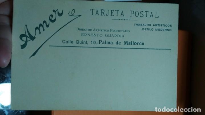 Fotografía antigua: FOTO EN TARJETA POSTAL ESTUDIO AMER PALMA DE MALLORCA - Foto 2 - 147699882