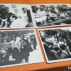 Fotografía antigua: CUATRO FOTOS FERIA DE ABRIL EN SEVILLA 1963 7X10 CM VER FOTOS. Lote 147727450