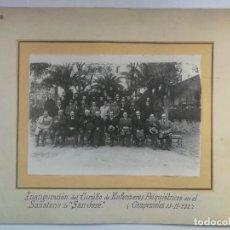 Fotografía antigua: FOTOGRAFIA INAGURACIÓN CURSILLO ENFERMEROS PSIQUIATRICOS SANATORIO DE SAN JOSE EN CIEMPOZUELOS. Lote 147920274