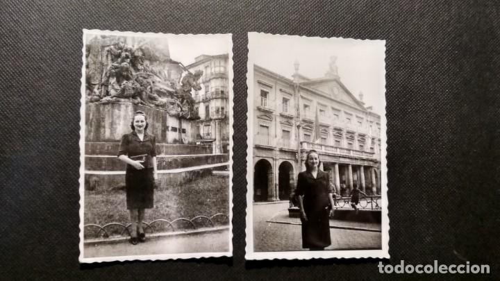 DOS FOTOGRAFÍAS DE VITORIA EN 1939 MEDIDAS 6X8 (Fotografía - Artística)