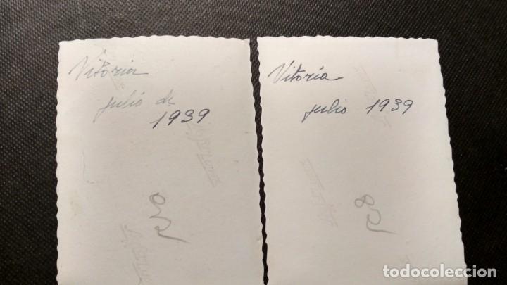 Fotografía antigua: DOS FOTOGRAFÍAS DE VITORIA EN 1939 MEDIDAS 6X8 - Foto 2 - 147938078