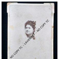 Fotografía antigua: SEVILLA FOTO ALBÚMINA DE GABINETE DE JOVEN DE RICARDO SANZ, SEVILLA . Lote 148756358