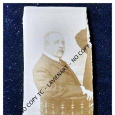 Fotografía antigua: ANTIGUA FOTOGRAFÍA SOBRE CARTÓN CABALLERO C 1890. Lote 148861918