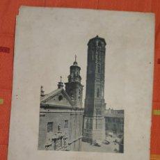 Fotografía antigua: FOTOTIPIA ZARAGOZA 1893 LA TORRE NUEVA HAUSER Y MENET. Lote 149104090