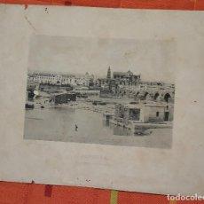 Fotografía antigua: FOTOTIPIA CORDOBA EL PUENTE Y LA CATEDRAL 1893 HAUSER Y MENET. Lote 149141610