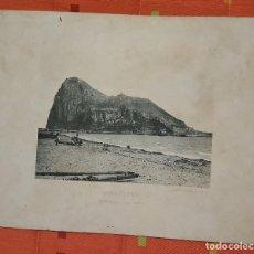Fotografía antigua: FOTOTIPIA GIBRALTAR VISTA GENERAL DEL PEÑON 1893 HAUSER Y MENET. Lote 149142702