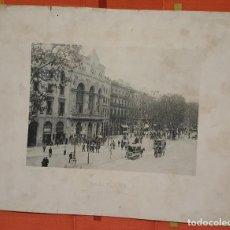 Fotografía antigua: FOTOTIPIA BARCELONA RAMBLA DEL CENTRO 1893 HAUSER Y MENET. Lote 149143570
