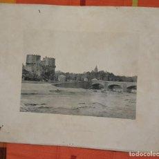 Fotografía antigua: FOTOTIPIA VALENCIA TORRES DE SERRANO Y RIO TURIA 1893 HAUSER Y MENET. Lote 149144770