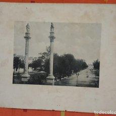 Fotografía antigua: FOTOTIPIA SEVILLA ALAMEDA DE HERCULES 1895 HAUSER Y MENET. Lote 149145290