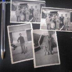 Fotografía antigua: LOTE 4 FOTOS ANTIGUAS RÍA DE BILBAO PESCA. AÑOS 40. Lote 180440495
