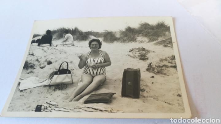FOTO AÑOS 40 50 60 , ¿ PLAYA DUNAS DE CORRUBEDO? AÑOS 50 60 (Fotografía - Artística)