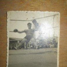 Fotografía antigua: BOXEO FOTO ORIGINAL INEDITA ANTIGUA EN EL RING BOXEADOR. Lote 150674134