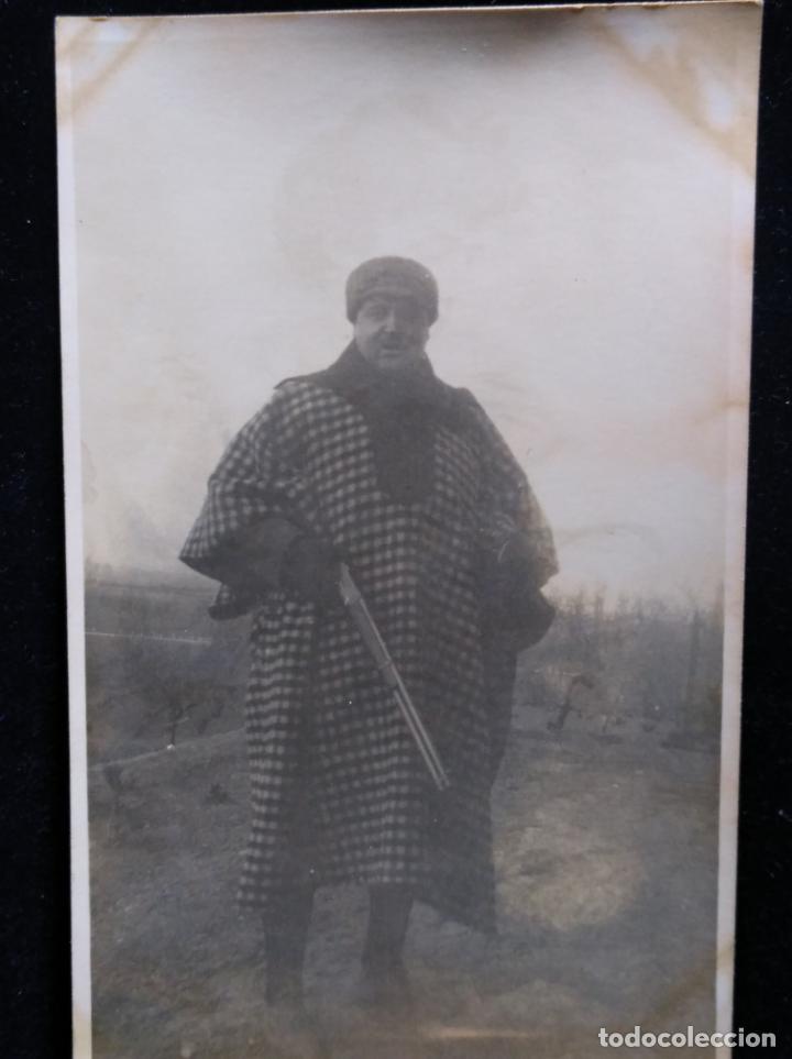CAZADOR AÑOS 30 - POSTAL FOTOGRÁFICA - 1939 CON ESCOPETA (Fotografía - Artística)