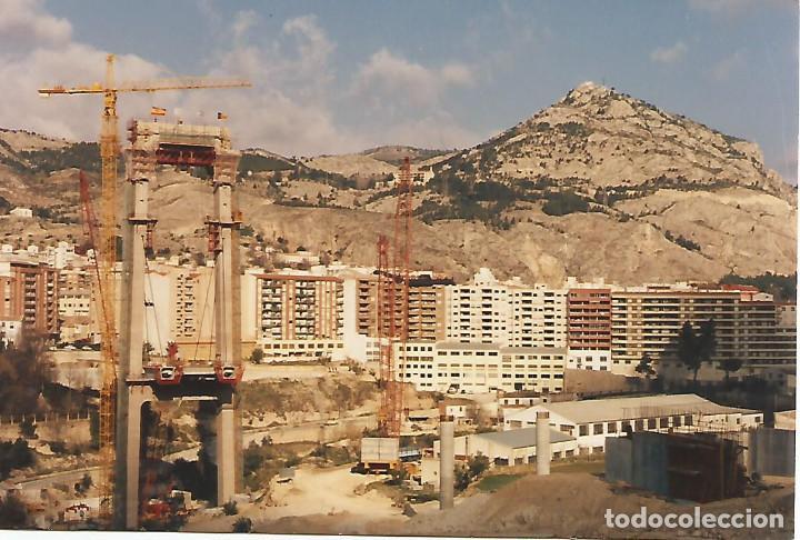 ALCOY.FOTOGRAFÍA REALIZADA DURANTE LA CONSTRUCCIÓN DEL PUENTE DE FERNANDO REIG (Fotografía - Artística)
