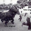 Fotografía antigua: MAGNIFICA FOTO TOROS EN CULLA(CASTELLON) AÑOS 50. Lote 150933390