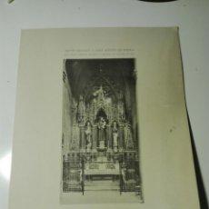Fotografía antigua: ALTAR DEDICAT A SANT ANTONI DE PADUA, IGLESIA PARROQUIAL DEL CLOT. DESAPARECIDO. 1907. Lote 150988214