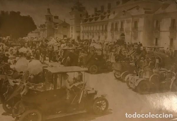 FIESTA AUTOMOVILISTA EN HONOR DE LA PRINCESA VICTORIA. PLAZA DEL PALACIO REAL DEL PARDO 17X11,5 CM (Fotografía - Artística)