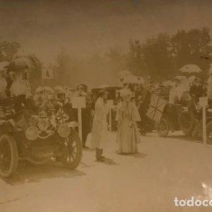 Fiesta automovilista en honor de la Princesa Victoria. Alfonso XIII Coburgo-Gota 17,4x11,5 cm