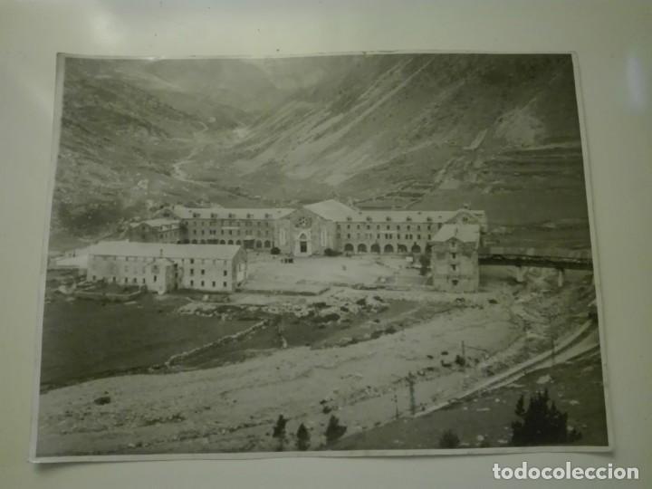 FOTOGRAFIA DE 23X18, VISTA GENERAL DEL SANTUARIO DE NURIA , AÑOS 30-40. (Fotografía - Artística)