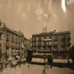 1908 Barcelona vella. Plaça del Angel. Arxiu Mas. Repertori Iconogràfic d'Espanya 25x20 cm