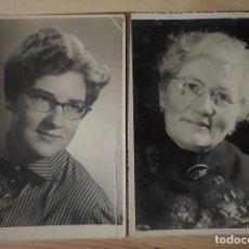 Fotografía antigua: FOTOGRAFIA ANTIGUA QUE MUESTRA EL PASO DE LOS AÑOS EN UNA MUJER BELLA. Lote 151468730