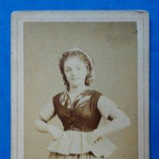 Fotografía antigua: FOTO DE ESTUDIO. PARIS. SIGLO XIX. ARTISTA FRANCESA. ENVIO INCLUIDO EN EL PRECIO.. Lote 151485540